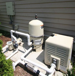 pool filter and heater