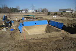 pool construction dig