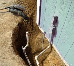 pool construction, electric wiring